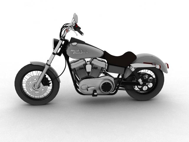 harley davidson fxdb ulica bob 2011 3d model 3ds max c4d obj 100661