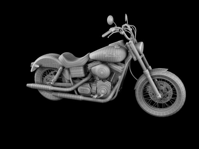 harley davidson fxdb ulica bob 2011 3d model 3ds max c4d obj 100675