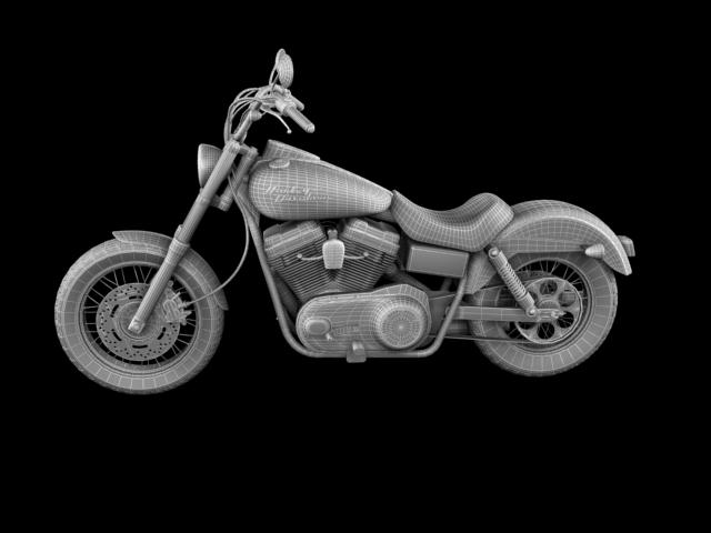 harley davidson fxdb ulica bob 2011 3d model 3ds max c4d obj 100677