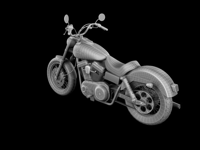 harley davidson fxdb ulica bob 2011 3d model 3ds max c4d obj 100678