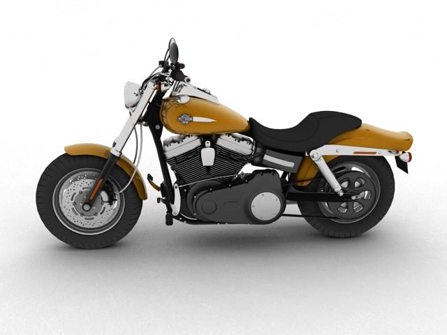 harley-davidson fxdf fat bob 2013 3d model 3ds max fbx c4d obj 155761