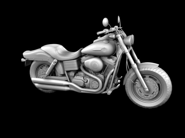 harley-davidson fxdf fat bob 2013 3d model 3ds max fbx c4d obj 155766