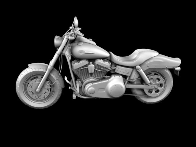 harley-davidson fxdf fat bob 2013 3d model 3ds max fbx c4d obj 155768