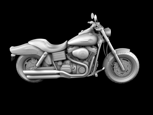 harley-davidson fxdf fat bob 2013 3d model 3ds max fbx c4d obj 155772