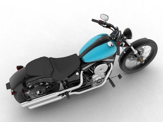 harley-davidson fxs softail blackline 2012 3d model 3ds max fbx c4d obj 154956
