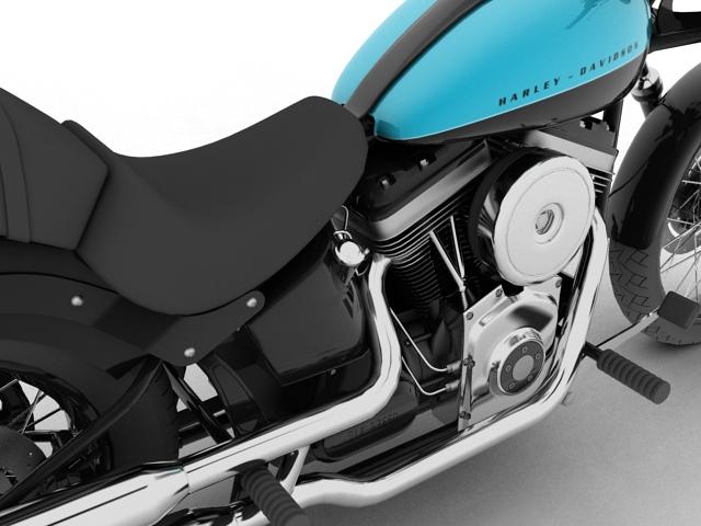 harley-davidson fxs softail blackline 2012 3d model 3ds max fbx c4d obj 154957