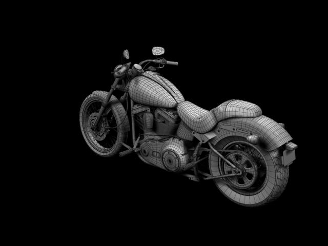 harley-davidson fxs softail blackline 2012 3d model 3ds max fbx c4d obj 154969