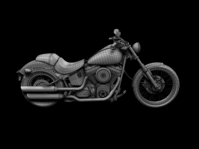 harley-davidson fxs softail blackline 2012 3d model 3ds max fbx c4d obj 154972