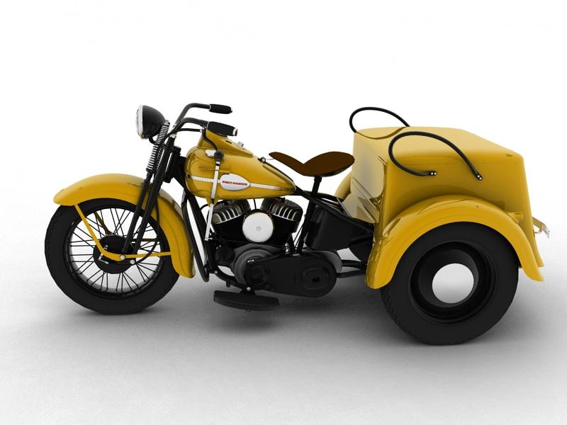 harley-davidson servi-car 1942 3d model 3ds max dxf fbx c4d obj 158503