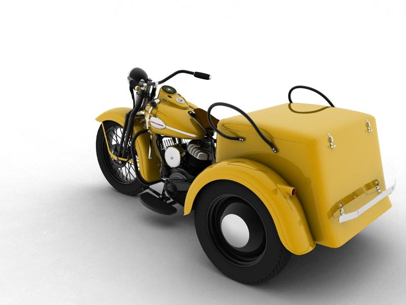 harley-davidson servi-car 1942 3d model 3ds max dxf fbx c4d obj 158504