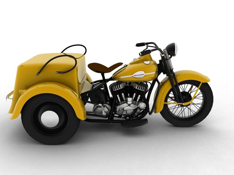 harley-davidson servi-car 1942 3d model 3ds max dxf fbx c4d obj 158507