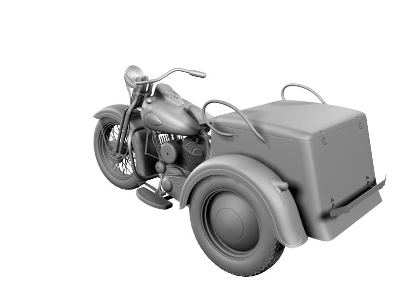 harley-davidson servi-car 1942 3d model 3ds max dxf fbx c4d obj 158511