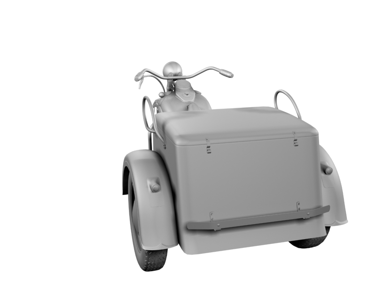 harley-davidson servi-car 1942 3d model 3ds max dxf fbx c4d obj 158512