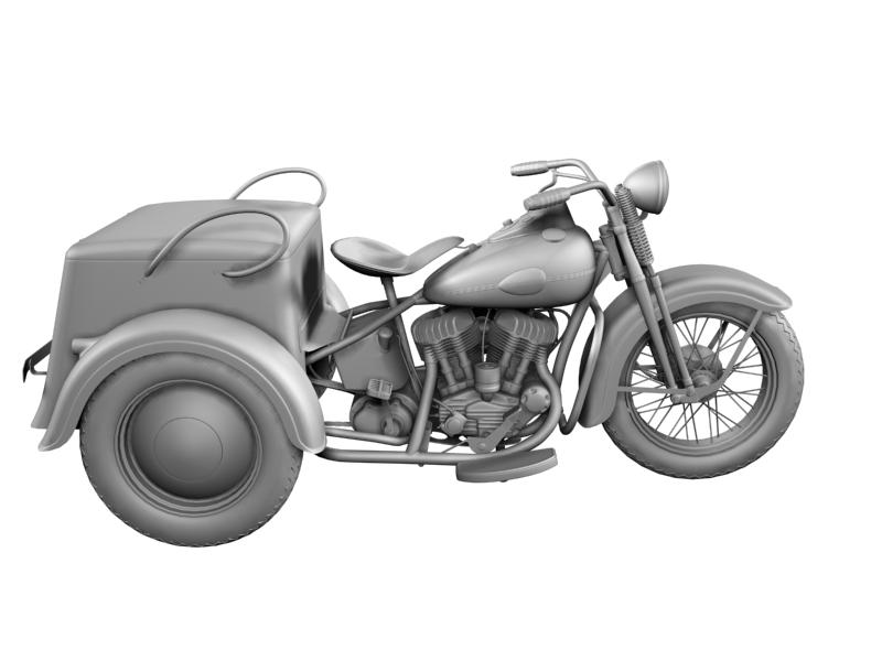 harley-davidson servi-car 1942 3d model 3ds max dxf fbx c4d obj 158514
