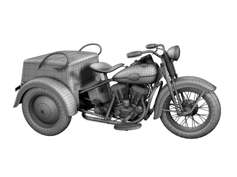 harley-davidson servi-car 1942 3d model 3ds max dxf fbx c4d obj 158515