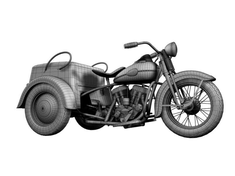 harley-davidson servi-car 1942 3d model 3ds max dxf fbx c4d obj 158516