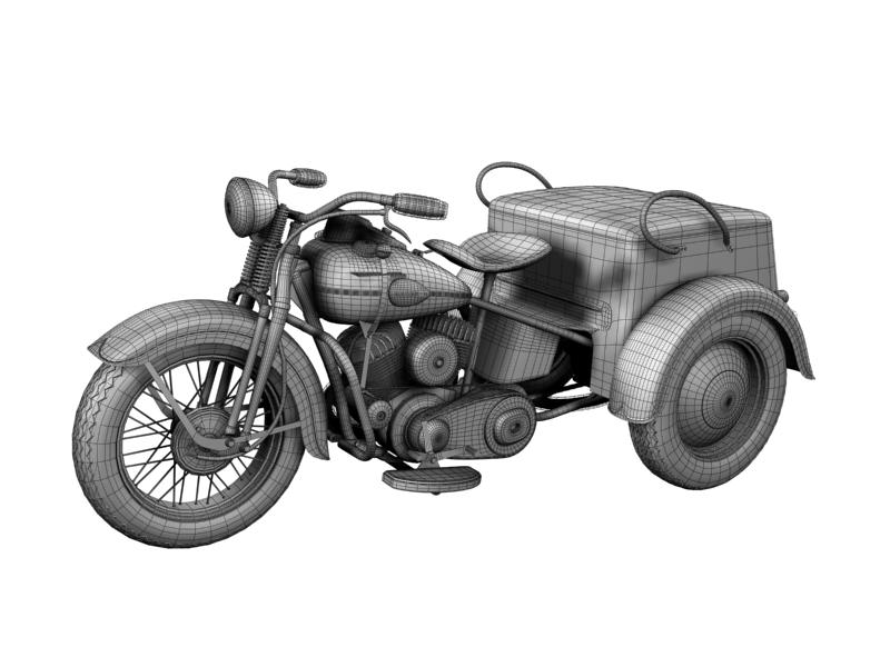 harley-davidson servi-car 1942 3d model 3ds max dxf fbx c4d obj 158517