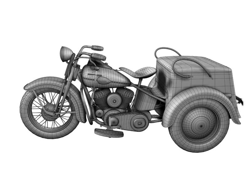 harley-davidson servi-car 1942 3d model 3ds max dxf fbx c4d obj 158518
