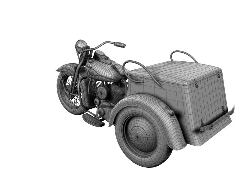 harley-davidson servi-car 1942 3d model 3ds max dxf fbx c4d obj 158519