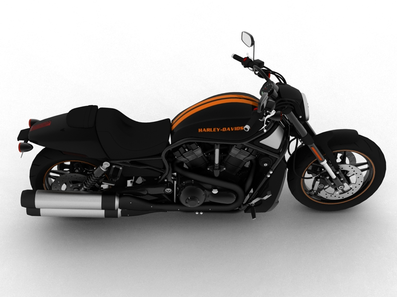 harley-davidson v-rod night rod special 2013 3d model 3ds max dxf fbx c4d obj 155807