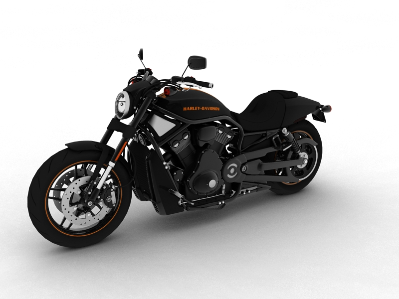 harley-davidson v-rod night rod special 2013 3d model 3ds max dxf fbx c4d obj 155808