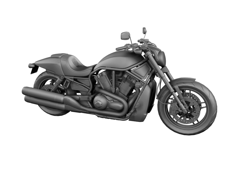 harley-davidson v-rod night rod special 2013 3d model 3ds max dxf fbx c4d obj 155814