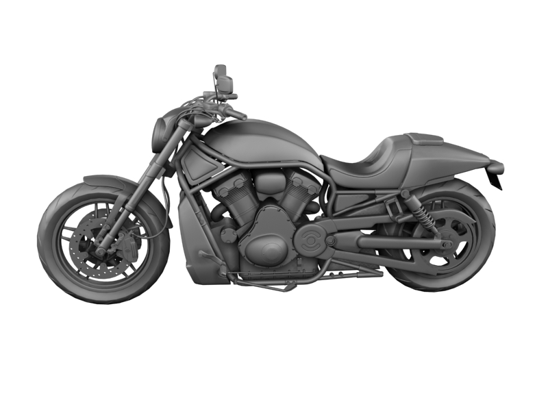 harley-davidson v-rod night rod special 2013 3d model 3ds max dxf fbx c4d obj 155816