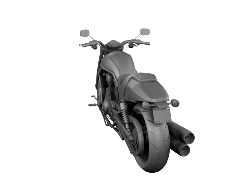 harley-davidson v-rod night rod special 2013 3d model 3ds max dxf fbx c4d obj 155818