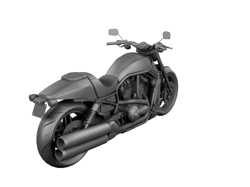 harley-davidson v-rod night rod special 2013 3d model 3ds max dxf fbx c4d obj 155819