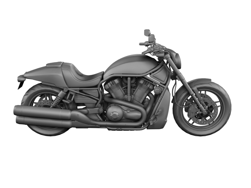 harley-davidson v-rod night rod special 2013 3d model 3ds max dxf fbx c4d obj 155820