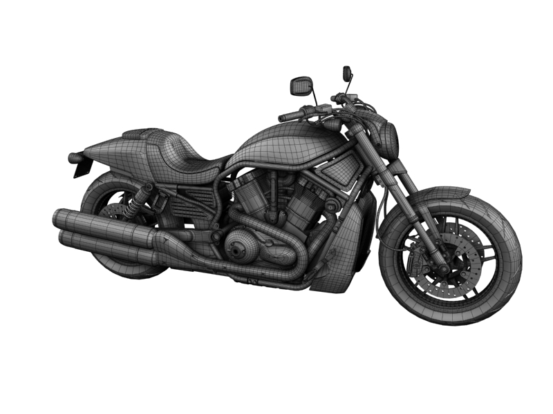 harley-davidson v-rod night rod special 2013 3d model 3ds max dxf fbx c4d obj 155821