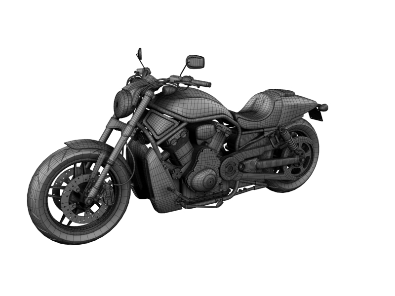 harley-davidson v-rod night rod special 2013 3d model 3ds max dxf fbx c4d obj 155822