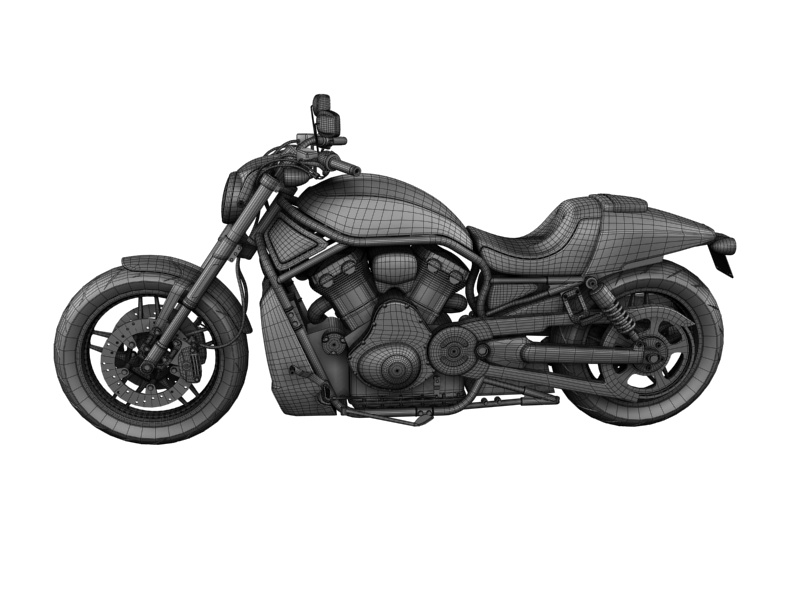 harley-davidson v-rod night rod special 2013 3d model 3ds max dxf fbx c4d obj 155823