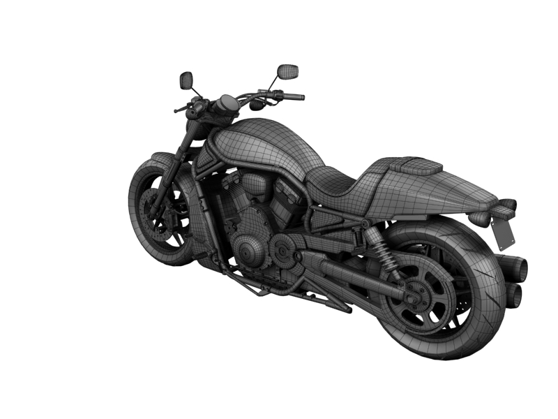 harley-davidson v-rod night rod special 2013 3d model 3ds max dxf fbx c4d obj 155824