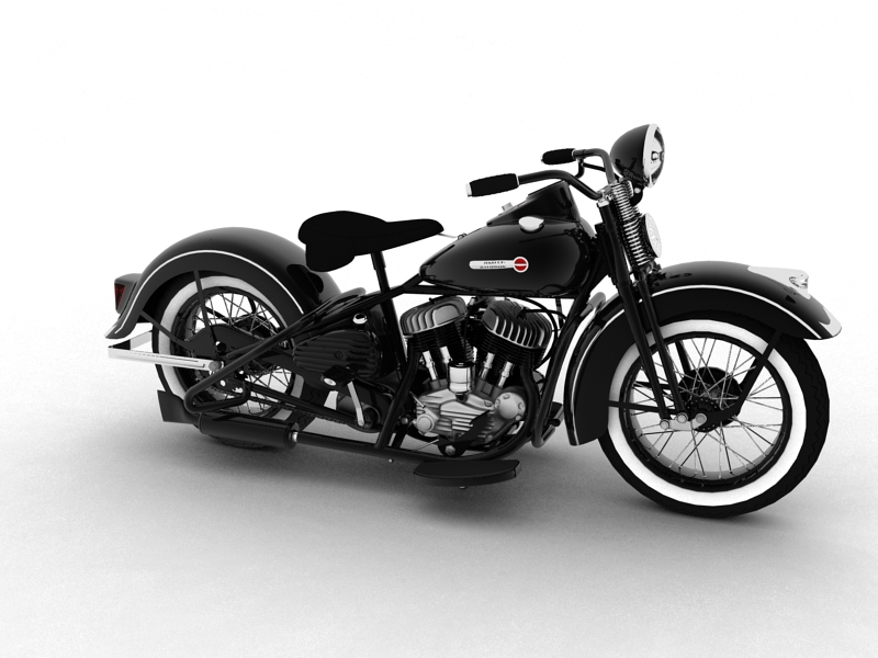 harley davidson wl 1942 3d modelo 3ds max dxf c4d obj 105339