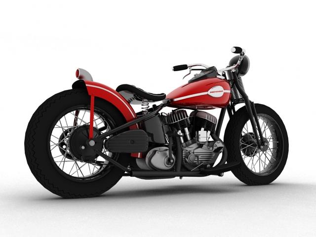 harley-davidson wla bobber 1945 3d model 3ds max fbx c4d obj 155168