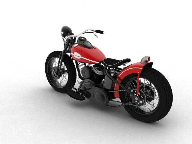 harley-davidson wla bobber 1945 3d model 3ds max fbx c4d obj 155172