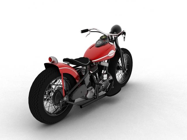 harley-davidson wla bobber 1945 3d model 3ds max fbx c4d obj 155174