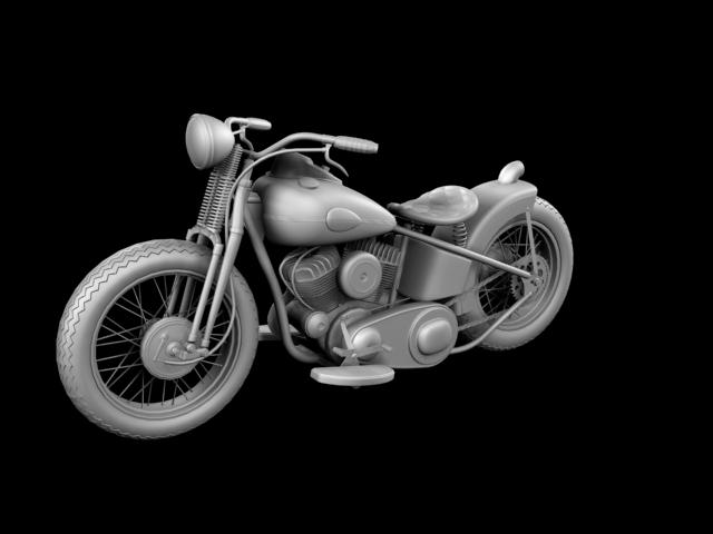 harley-davidson wla bobber 1945 3d model 3ds max fbx c4d obj 155177