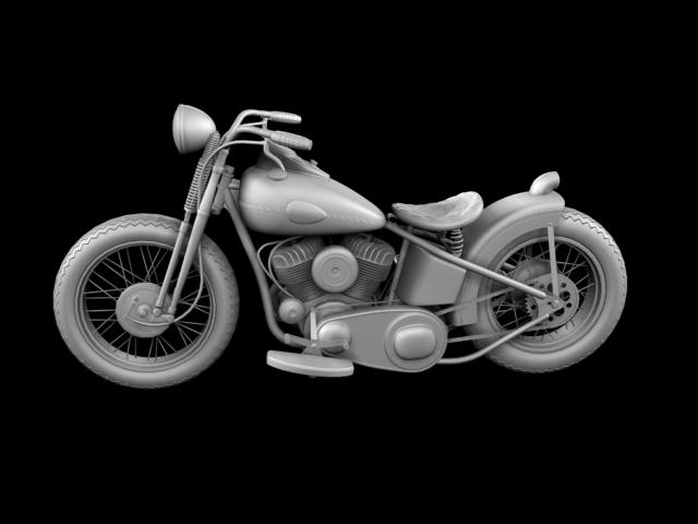harley-davidson wla bobber 1945 3d model 3ds max fbx c4d obj 155178