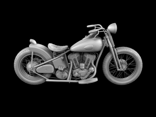 harley-davidson wla bobber 1945 3d model 3ds max fbx c4d obj 155182