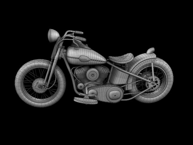 harley-davidson wla bobber 1945 3d model 3ds max fbx c4d obj 155186