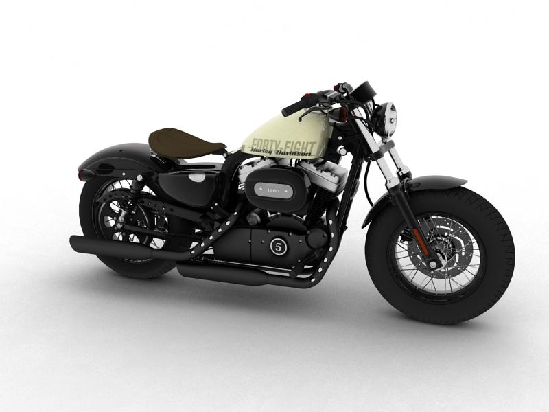 harley-davidson xl1200 sportster empat puluh lapan model 2014 3d 3ds max dxf fbx c4d obj 157846