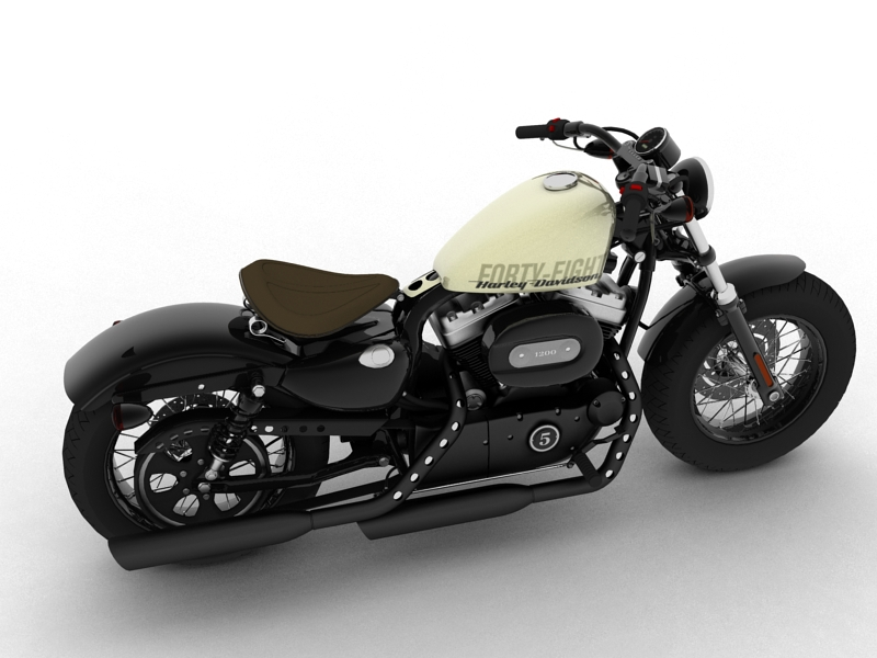 harley-davidson xl1200 sportster forty-eight 2014 3d model 3ds max dxf fbx c4d obj 157847