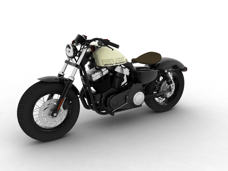 harley-davidson xl1200 sportster forty-eight 2014 3d model 3ds max dxf fbx c4d obj 157848