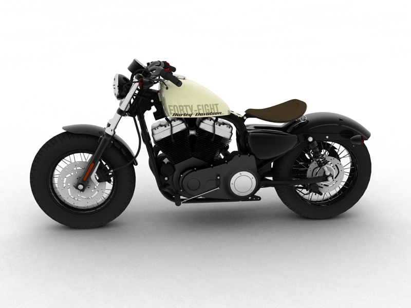 harley-davidson xl1200 sportster forty-eight 2014 3d model 3ds max dxf fbx c4d obj 157849