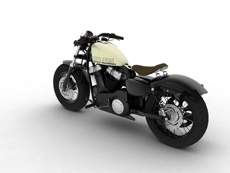 harley-davidson xl1200 sportster forty-eight 2014 3d model 3ds max dxf fbx c4d obj 157850
