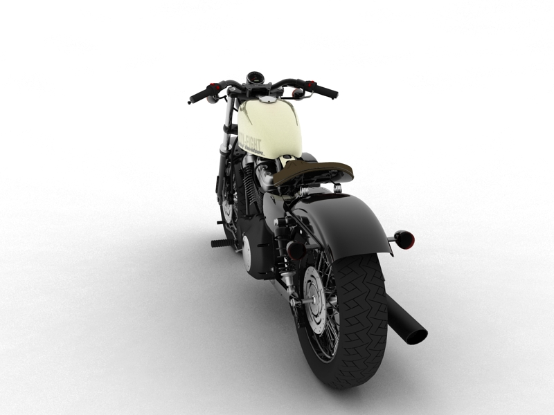 harley-davidson xl1200 sportster forty-eight 2014 3d model 3ds max dxf fbx c4d obj 157851