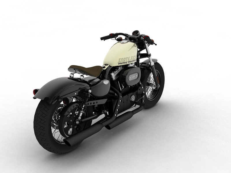 harley-davidson xl1200 sportster forty-eight 2014 3d model 3ds max dxf fbx c4d obj 157852