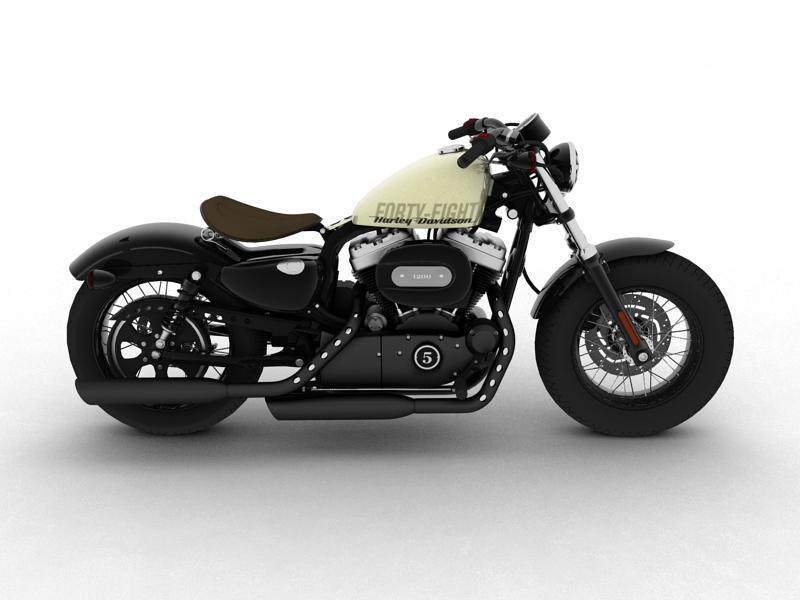 harley-davidson xl1200 sportster forty-eight 2014 3d model 3ds max dxf fbx c4d obj 157853
